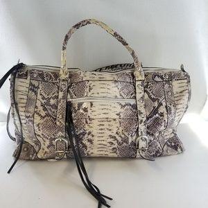 CHARLIE LAPSON Snake Python Print Large Handbag